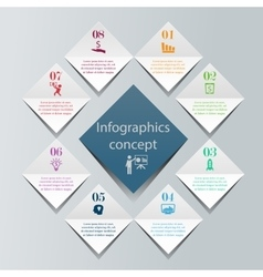 Digital infographics concept vector image