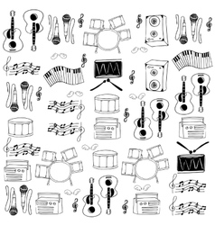 Doodle of tool musical collection vector