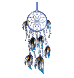 Dreamcatcher isolated vector