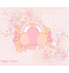 Easter Egg On floral Background vector image