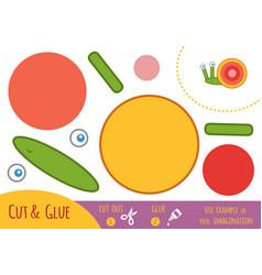 education paper game for children snail vector image