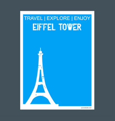 eiffel tower paris france monument landmark vector image