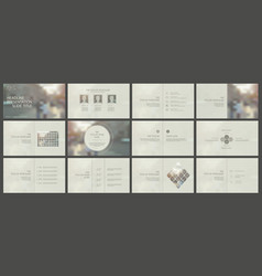 elements for powerpoint presentation templates vector image
