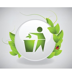 Environmental label vector image