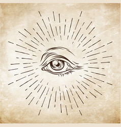 Eye of providence masonic symbol all seeing eye vector