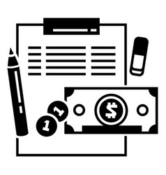 Finance accounting icon simple style vector