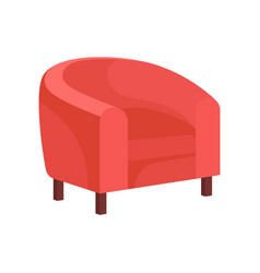 Flat icon of cozy armchair with pink vector