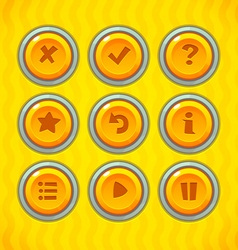 Game Buttons with Icons vector image