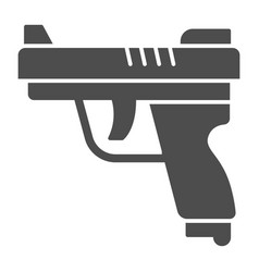 gun solid icon self defense concept pistol sign vector image