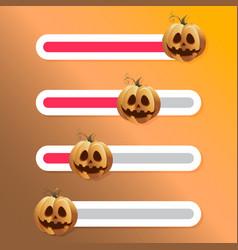 Halloween pumpkin slider button for social story vector