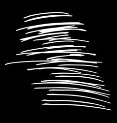 Hand drawn striped pattern black and white vector