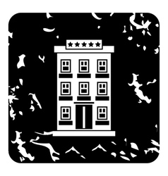 Hotel building icon grunge style vector