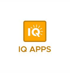 iq app logo vector image
