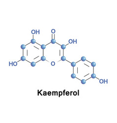 Kaempferol molecule structure vector
