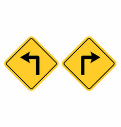 left and right traffic signs vector image