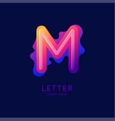 Letter m latin alphabet display vector