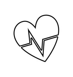 Line nice heartbeat to cardiac rhythm vector