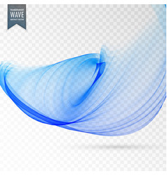 Modern wavy background in blue transparent style vector