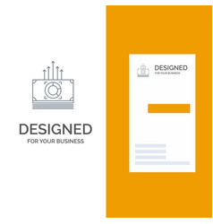 Money bundle bucks transfer grey logo design and vector