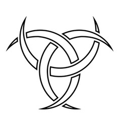Odin horn paganism symbol icon black color flat vector