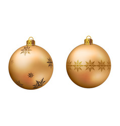 realistic golden christmas ball vector image