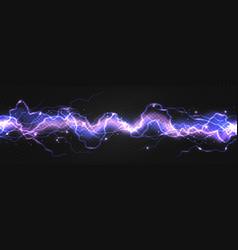 Realistic lightning powerful discharge on dark vector