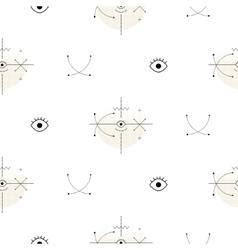 Sacred geometry arrow shapes seamless vector image