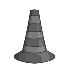 Safety cones icon black monochrome style vector