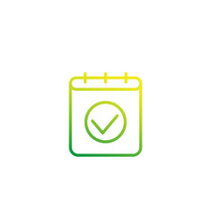 schedule linear icon vector image