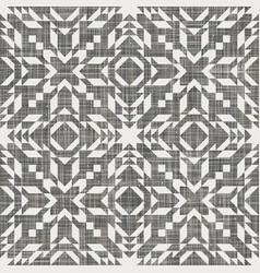 Seamless kilim swatch design on linen texture vector