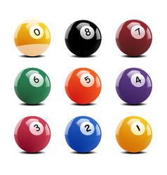 Set glossy 8 ball pool attractive vector