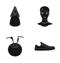 shoes hairdresser textiles and other web icon in vector image