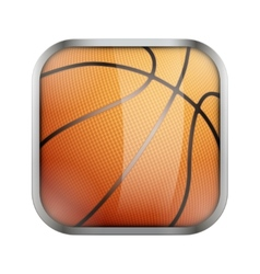 Square icon for basketball app or games vector image