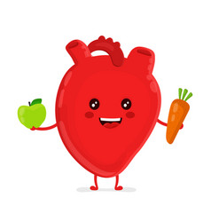 strong funny healthy happy heart vector image vector image
