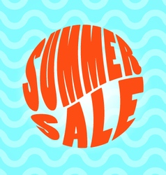 Summer sale text lettering vector image
