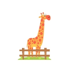 Tall Orange Giraffe With Hexahedron Shaped Spots vector