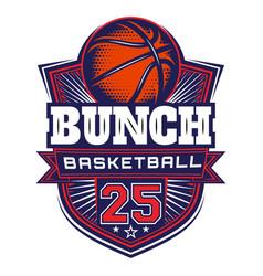template on theme basketball vector image