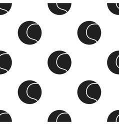 Tennis ball icon in black style for web vector