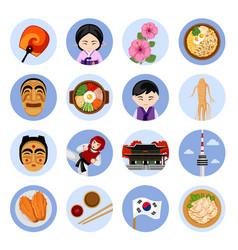 travel to korea set of vector image