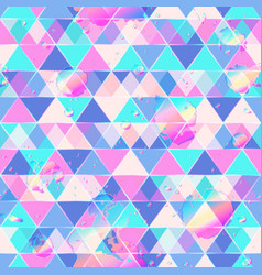 triangle pattern with drop grunge vector image