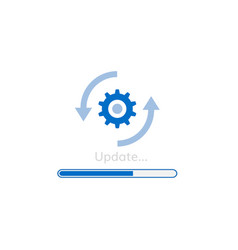 upgrade software icon update program vector image