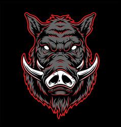 vintage hog head concept vector image