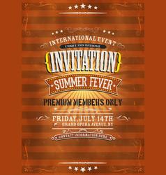 Vintage invitation background vector