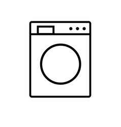 Washing machine line icon isolated on white vector
