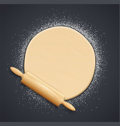 Wooden rolling pin vector