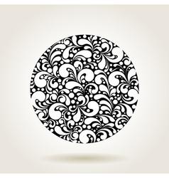 black curves circle1 vector image vector image