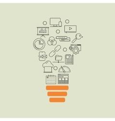 Business development seo optimisation idea vector image