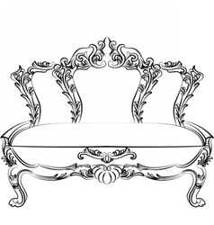 Royal Baroque Classic sofa furniture vector image vector image