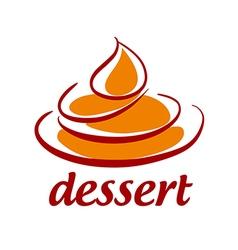 Abstract logo sweet dessert vector image vector image