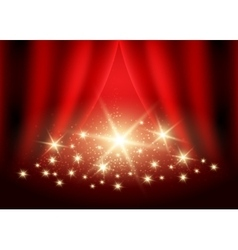Festive Red background vector image vector image
